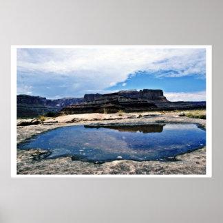 Rain Pool - Canyonlands National Park Print