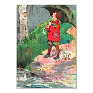 Rain, rain, go away, Come again another day 13 Cm X 18 Cm Invitation Card