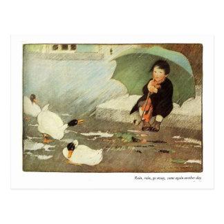 Rain, Rain Go Away Nursery Rhyme Postcard