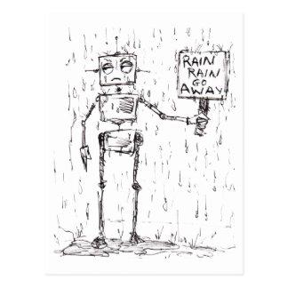 Rain Rain Go Away Postcard