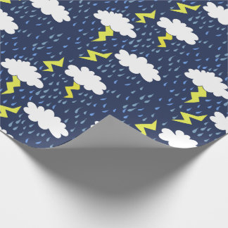 Rain storms thunder clouds wrapping paper