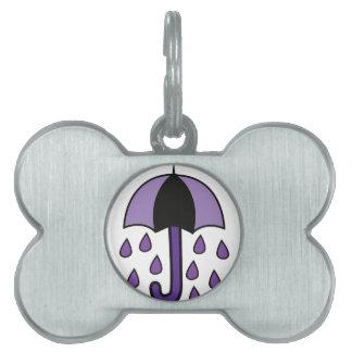 Rain Umbrella Pet ID Tags