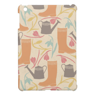 Rainboots, Watering Can Flowers Garden Pattern iPad Mini Case