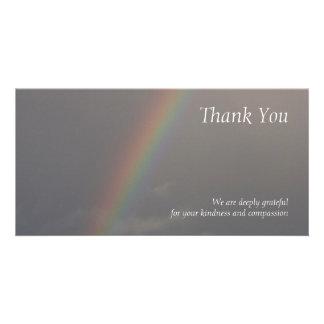 Rainbow 2 Sympathy Thank You Photo Card