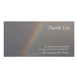 Rainbow 3 Sympathy Thank You Photo Card