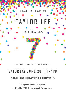 7th Birthday Invitations Zazzle Au