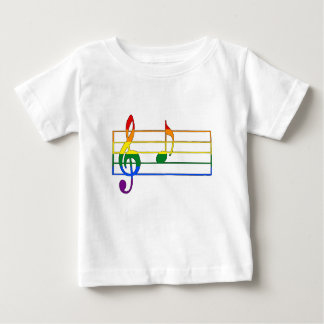 Rainbow 'A' Musical Note Baby T-Shirt