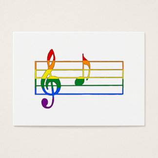Rainbow 'A' Musical Note Business Card
