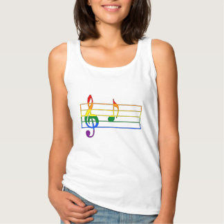 Rainbow 'A' Musical Note Singlet