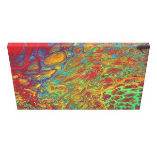 Rainbow Abstract Acrylic Pour Print