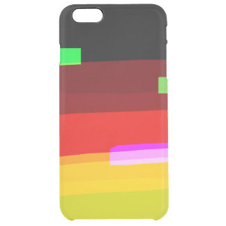 Rainbow Abstract Art Clear iPhone 6 Plus Case