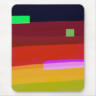 Rainbow Abstract Art Mouse Pad