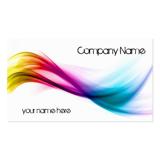Rainbow abstract background business cards