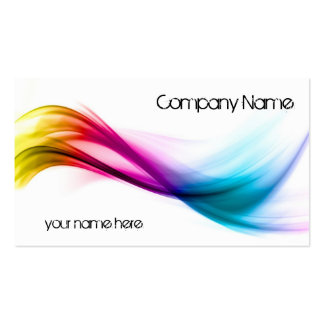 Rainbow abstract background pack of standard business cards