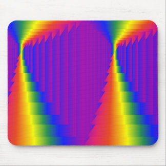 Rainbow Abstract Boxes Mouse Pad