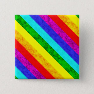 Rainbow abstract pattern 15 cm square badge
