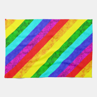 Rainbow abstract pattern tea towel