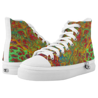 Rainbow Abstract Sneaker Converse Inspired HiTop