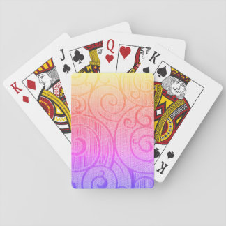 Rainbow Abstract Spiral Playing Cards