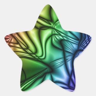 rainbow abstract star sticker