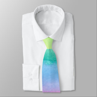 Rainbow Abstract Watercolor Tie by Ozias