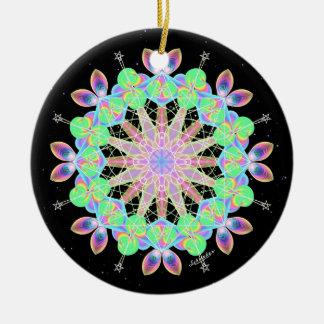Rainbow Abundance Ceramic Ornament
