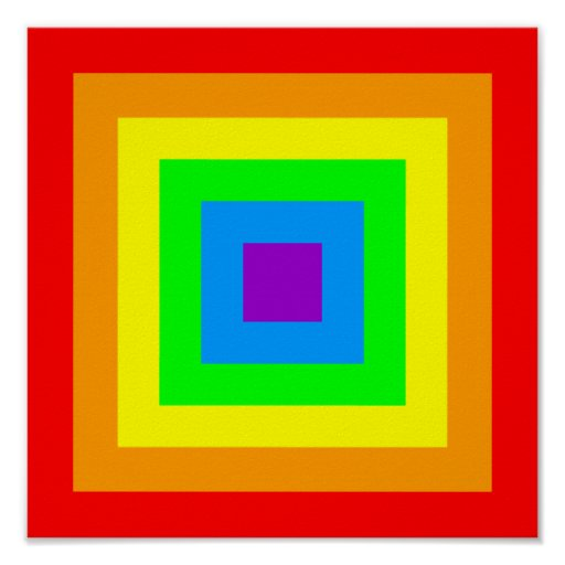 Rainbow Acid Squares Print