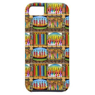 Rainbow African Dress Vivid Colorful Clothes Tough iPhone 5 Case