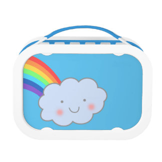 Rainbow after Rain Yubo Lunchbox, Blue Lunch Boxes
