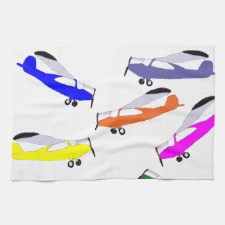 Rainbow Airplanes Kitchen Towel