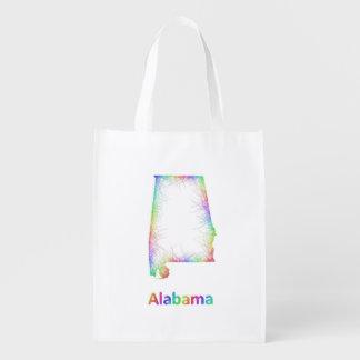 Rainbow Alabama map