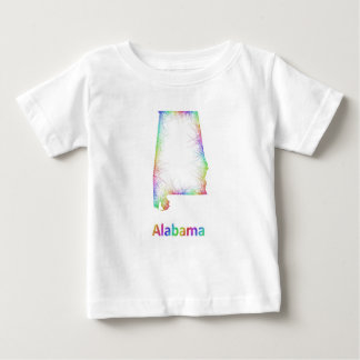 Rainbow Alabama map Baby T-Shirt