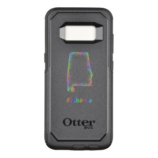 Rainbow Alabama map OtterBox Commuter Samsung Galaxy S8 Case
