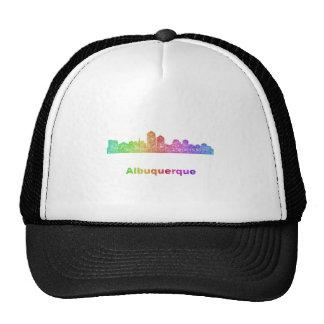 Rainbow Albuquerque skyline Cap