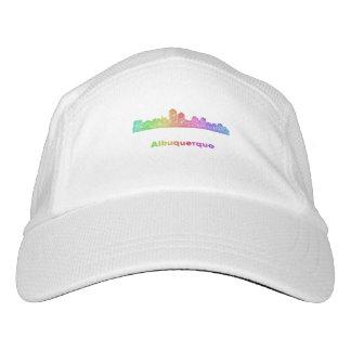 Rainbow Albuquerque skyline Hat