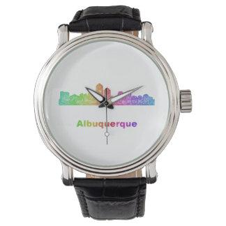 Rainbow Albuquerque skyline Wristwatch
