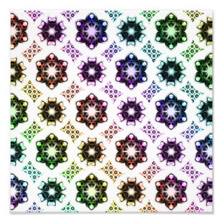 Rainbow Alien Eye Fractal Art Pattern Photo Print