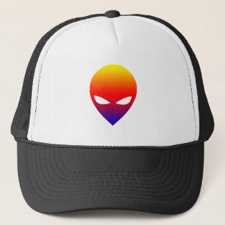 Rainbow Alien Trucker Hat