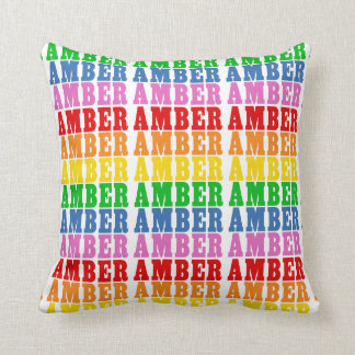 Rainbow Amber Throw Pillow