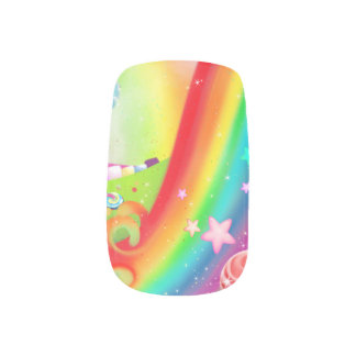 Rainbow and Candy Magical Nail Art