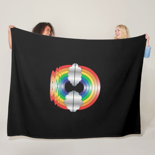 Rainbow and Clouds Reflection LGBT Blanket