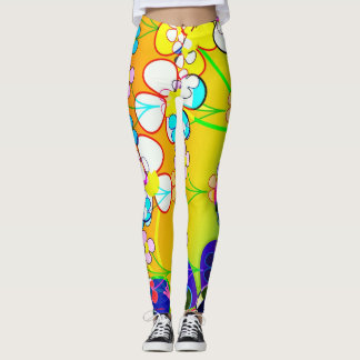 Rainbow and Flowers Leggings