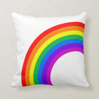 Rainbow and Monogram Throw Cushions