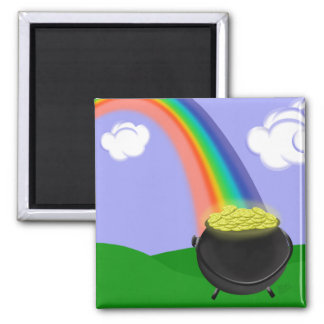 Rainbow and Pot of Gold Magnet