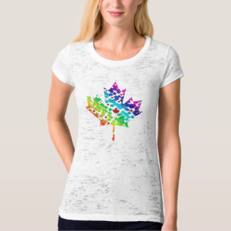 Rainbow and Red Maple Leaf Canada Pride T-Shirt