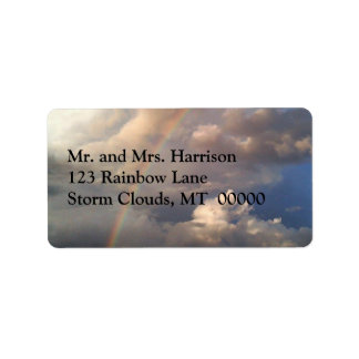 Rainbow and Storm Clouds Address Labels