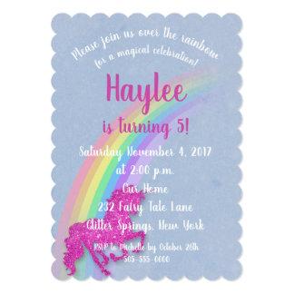 Rainbow and Unicorn Birthday Invitation