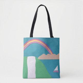 Rainbow and Waterfall Tote Bag