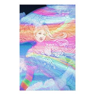 Rainbow Angel Personalized Stationery