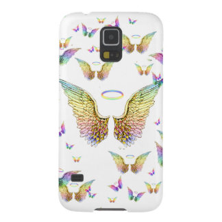 Rainbow Angel Wings and Halos Galaxy S5 Cover